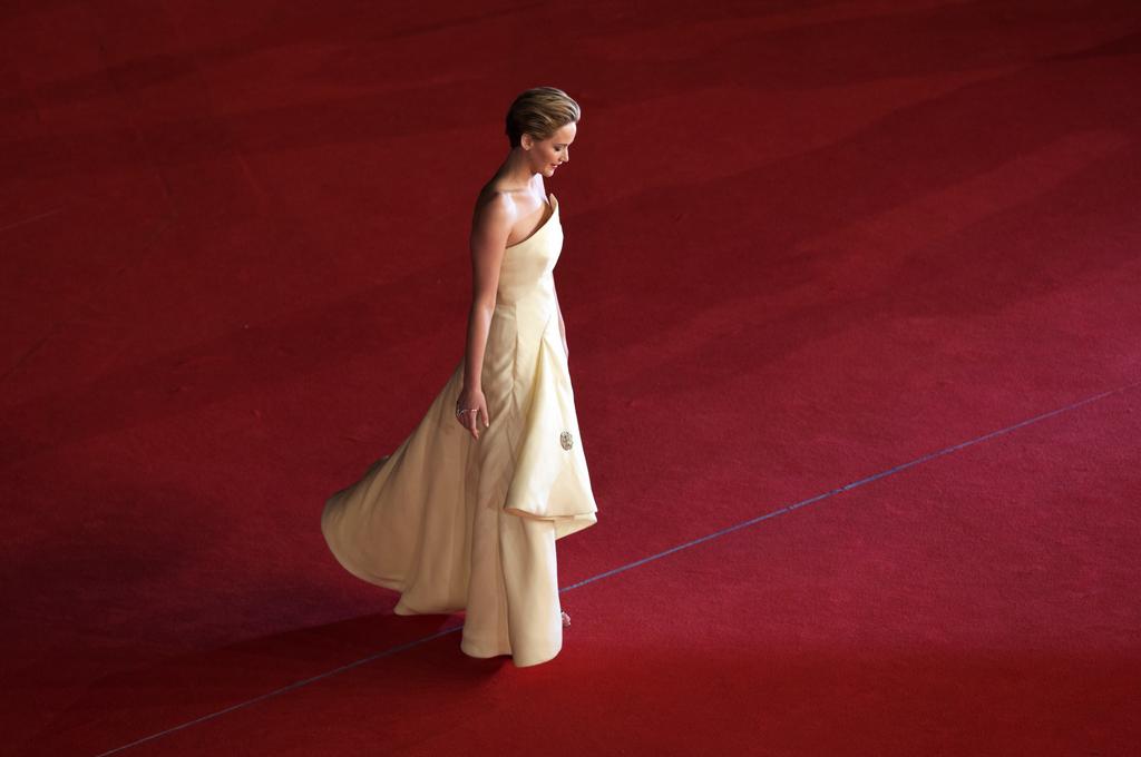 Jennifer Lawrence auf dem roten Teppich in Rom, Italien (Keystone/AP Photo/Alessandra Tarantino)
