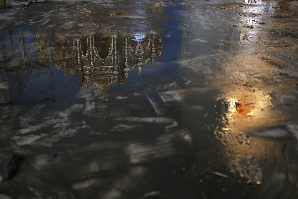 Zerstörte Kirche in Tacloban, Philippinen (Keystone/AP Photo/Vincent Yu)