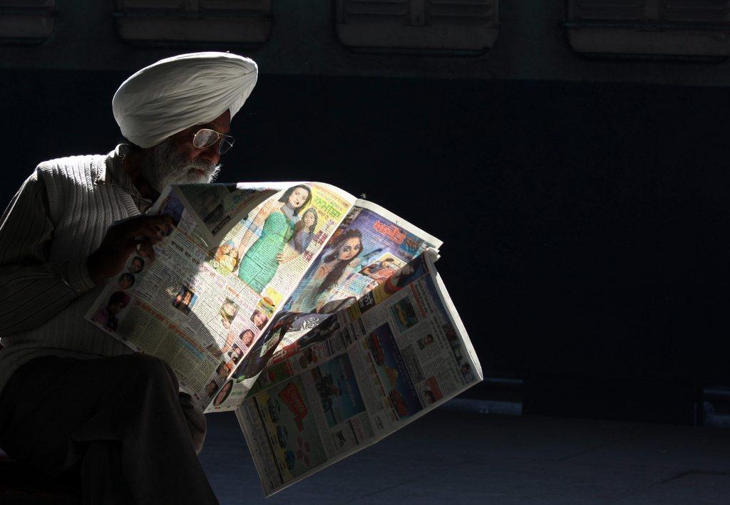 Warten auf den Zug in Amritsar, Indien (Keystone/EPA/Raminder Pal Singh)
