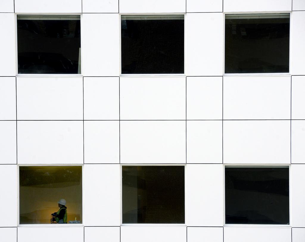 Neubau in Harrisonburg, Va. USA (AP Photo/Daily News-Record, Jason Lenhart)