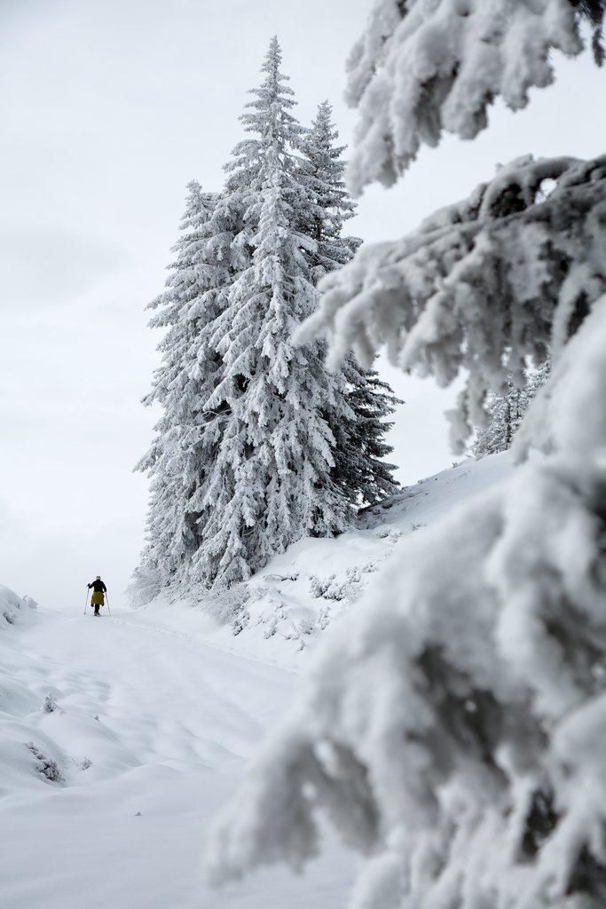 Wintereinbruch in Chur, Schweiz (Keystone/Arno Balzarini)