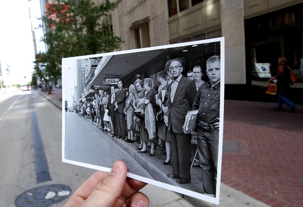 Gedenken an das Kennedy-Attentat in Houston, USA (Keystone/AP Photo/Cody Duty)