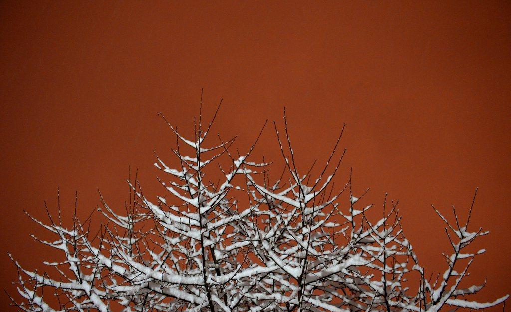 Erster Schnee in Skopje, Mazedonien (Keystone/EPA/Gregori Licovski)