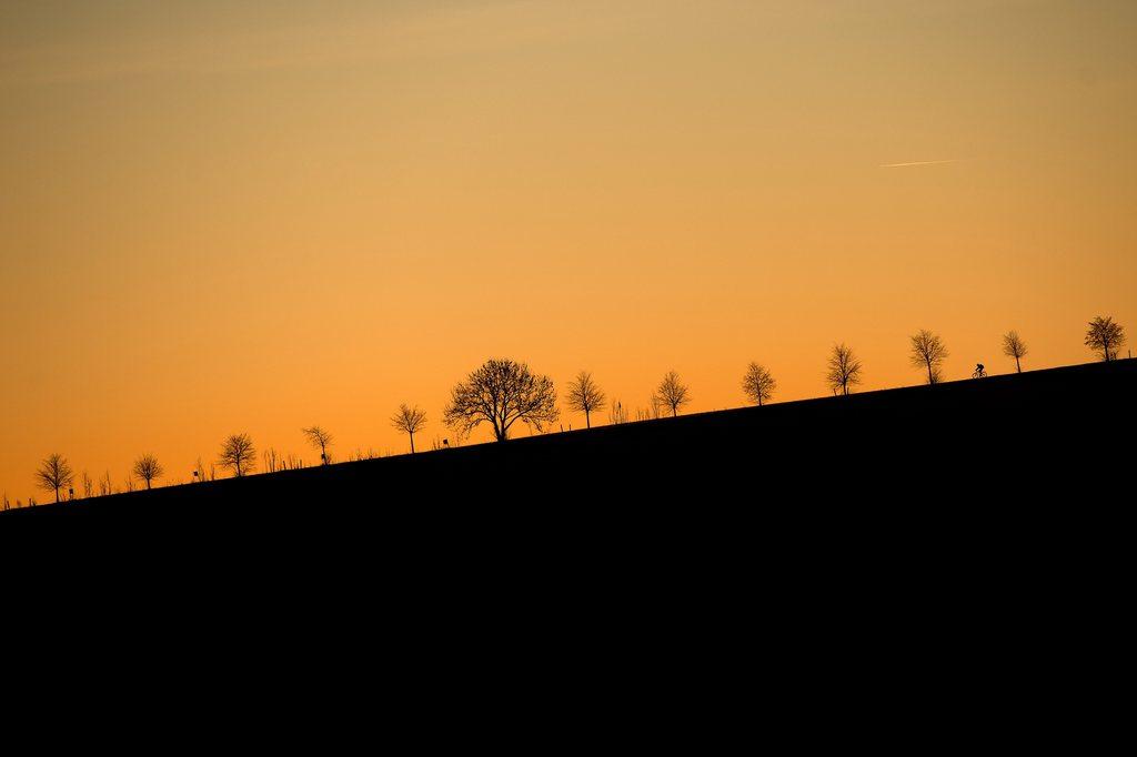 Sonnenaufgang in Dresden, Deutschland (Keystone/EPA/Arno Burg)
