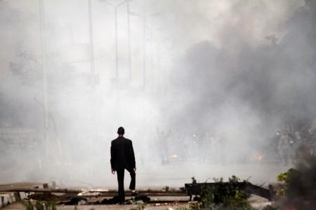 Rauch von Tränengas in Kairo, Ägypten (Keystone/AP Photo/Sabry Khaled)