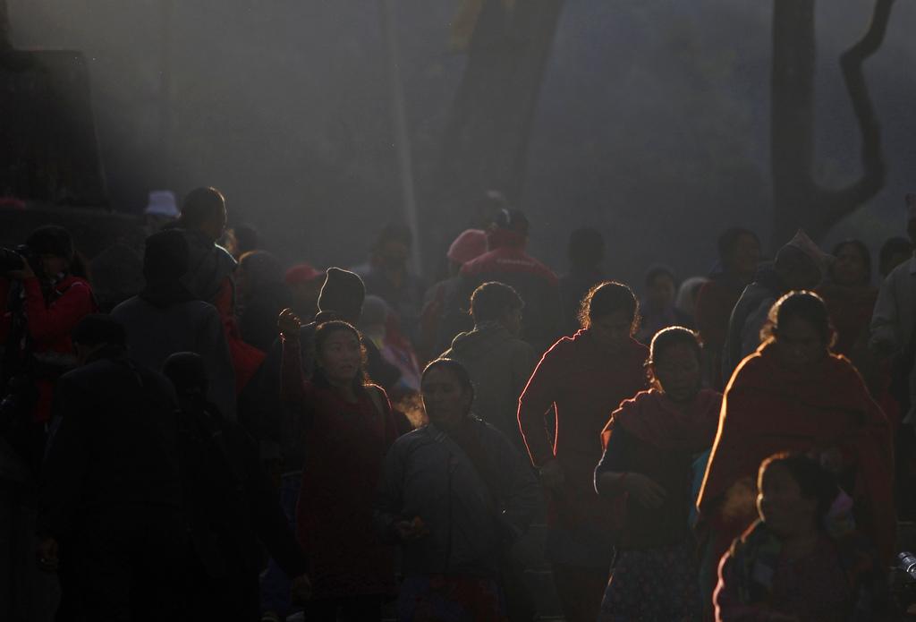 Religiöse Feier in Kathmandu, Nepal (AP Photo/Niranjan Shrestha)
