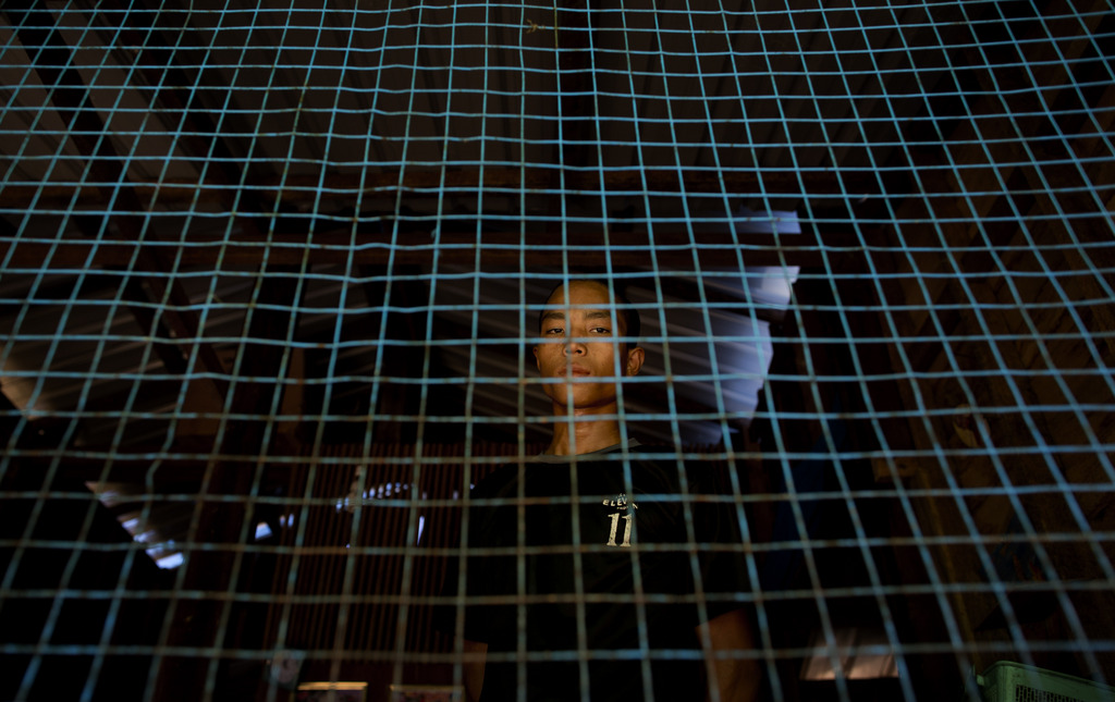 Porträt eines ehemaligen Kindersoldaten in Myanmar (AP Photo/Gemunu Amarasinghe)