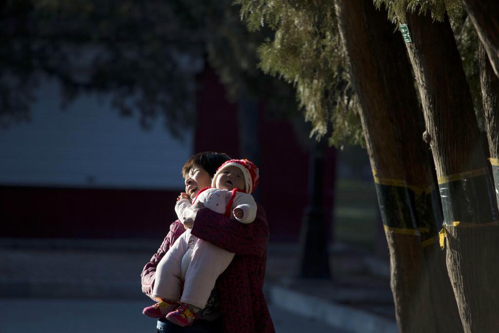 Morgendliche Szene in einem Park in Beijing China (AP Photo/Ng Han Guan)