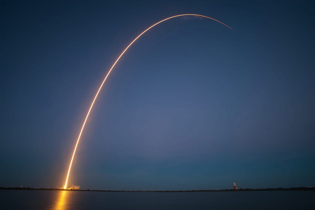 Start einer Falcon 9 in Cape Canaveral, USA (Keystone/EPA/Spacex)