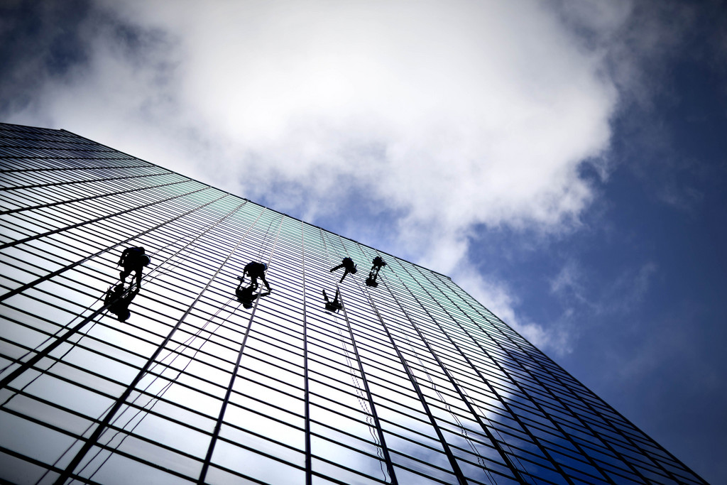 Fensterputzer in Atlanta, USA (Keystone/AP Photo/David Goldman)