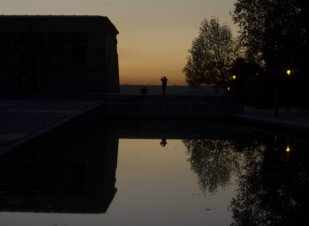 Sonnenuntergang in Madrid, Spanien (Keystone/AP Photo/Paul White)