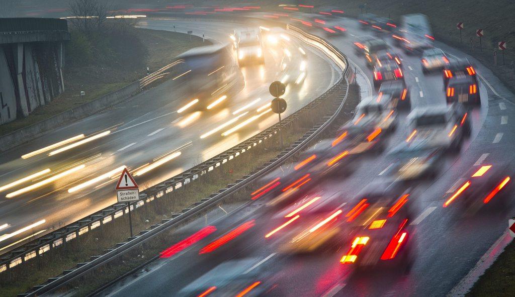 Rush Hour in Frankfurt am Main, Deutschland (Keystone/EPA/Frank Rumpenhorst)