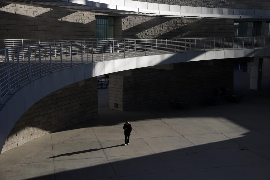 Winterliches Licht und Schatten in San Jose, Kalifornien USA  (AP Photo/Marcio Jose Sanchez)
