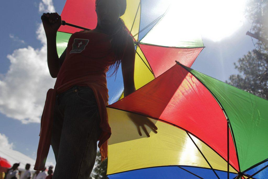 Am Rande der Aufbahrung von Nelson Mandela in Pretoria, Südafrika (Keystone/EPA/Dai Kurokawa)