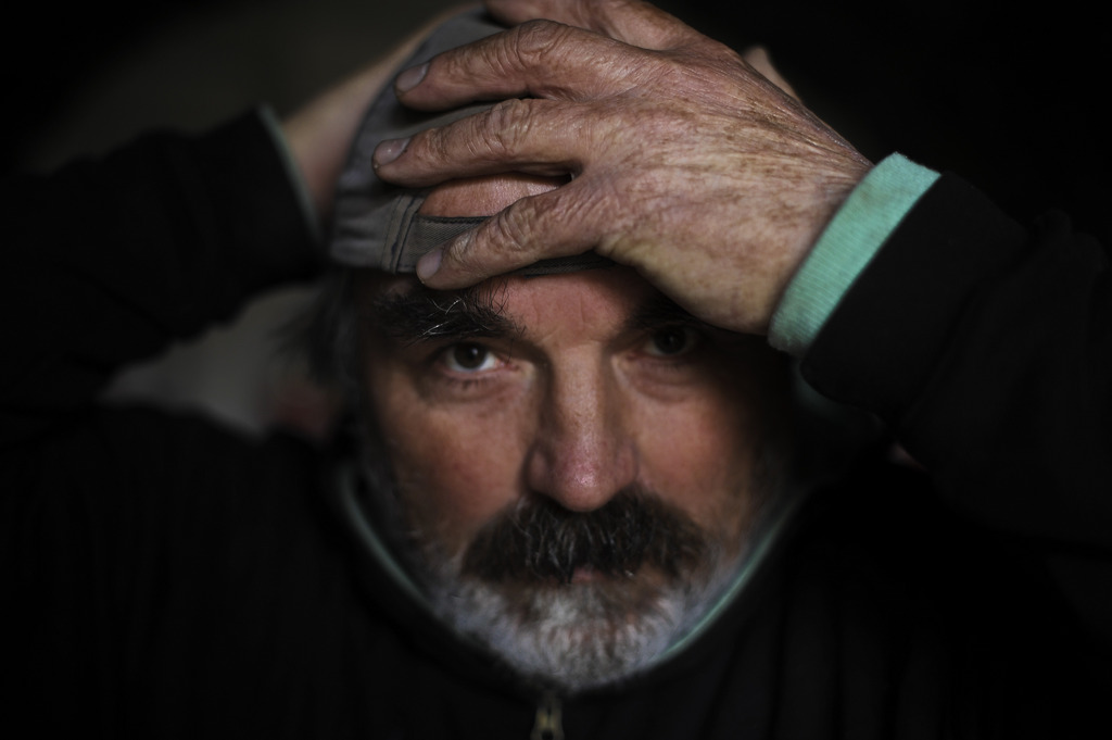 Nicolae Mihuta in Pamplona, Spanien (Keystone/AP Photo/Alvaro Barrientos)