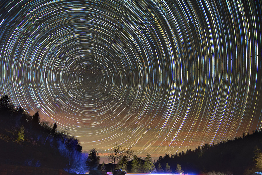 Polarlicht über den Great Smoky Mountains, USA (Keystone/AP Photo/Adam Lau)