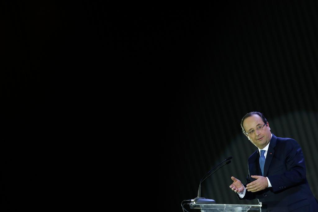 Francois Hollande in Brasilia, Brasilien (Keystone/AP Photo/Eraldo Peres)