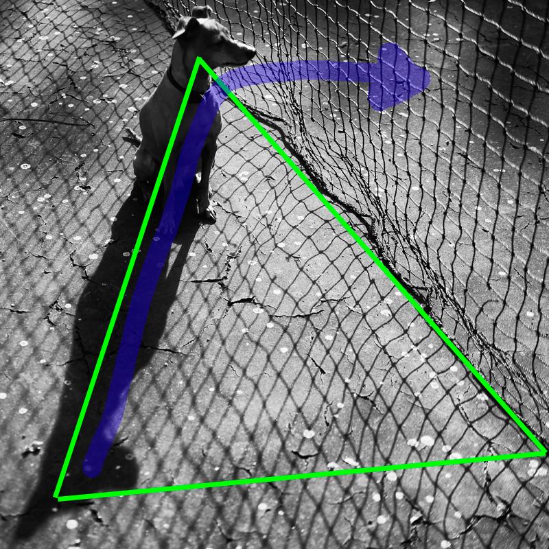 Komposition: Strukturdreieck und Blickrichtung
