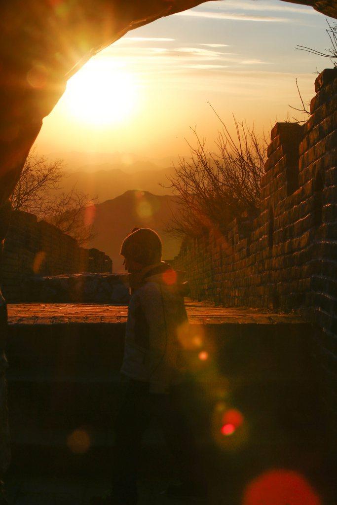 Auf der Großen Mauer vor Beijing, China (Keystone/EPA/Diego Azubel)