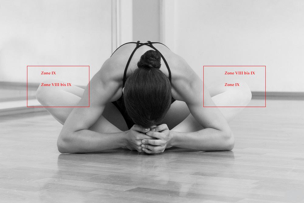 Tonwerte: Detail der beiden Kniee