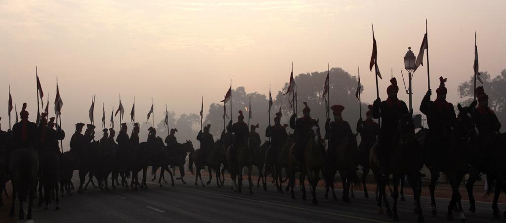 Berittene Präsidentengarde, Neu Delhi Indien