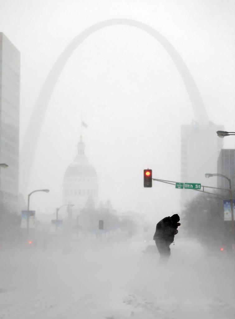 Winter in St. Louis, USA (Keystone/AP Photo/Jeff Roberson)