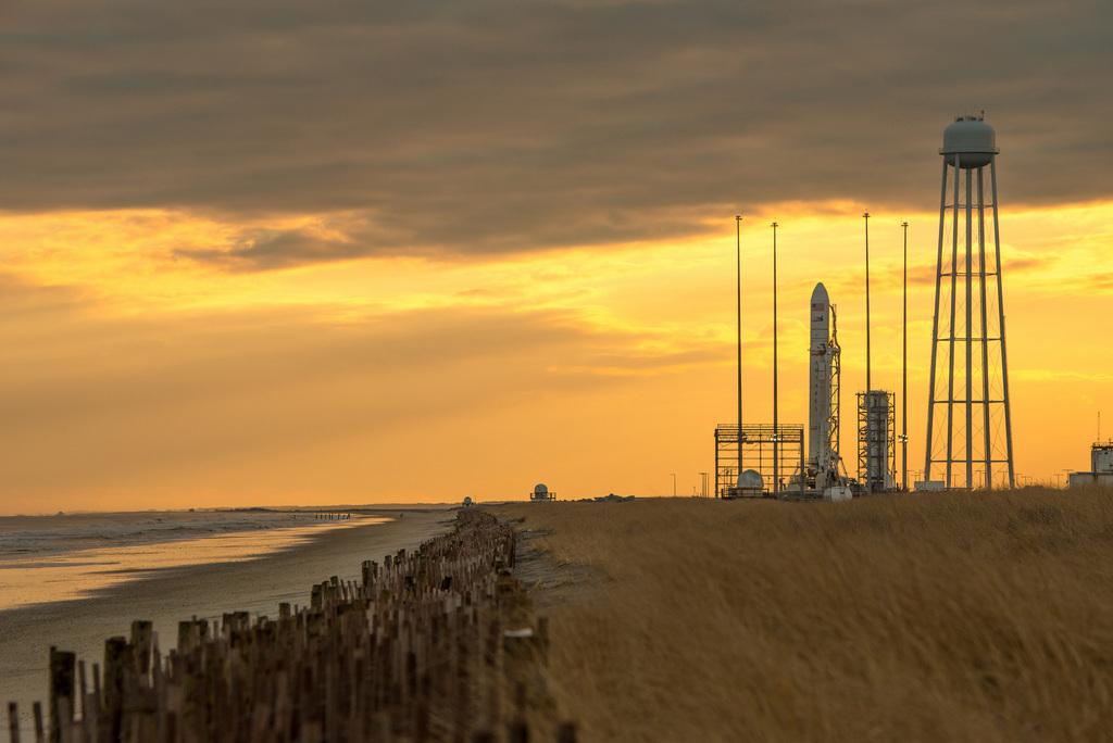Raketenstartrampe in Wallops Island, USA (Keystone/AP Photo/Bill Ingalls)