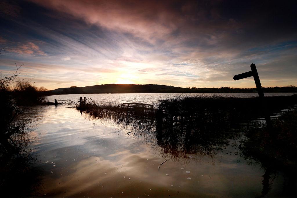 Sonnenaufgang über Eckington, England (Keystone/AP Photo/David Davies)