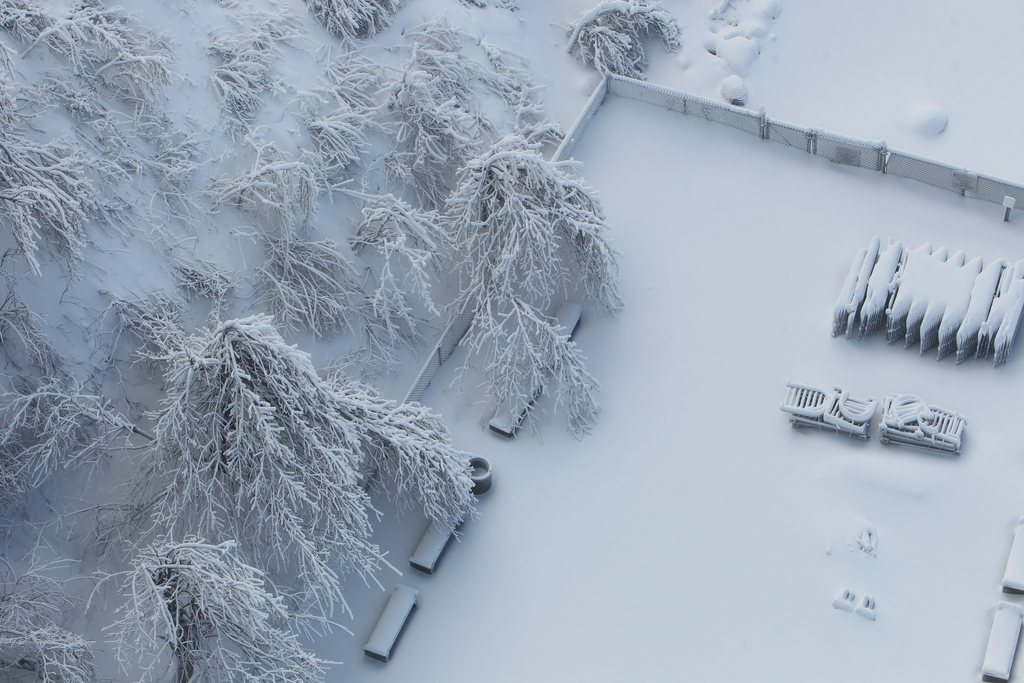 Winter im Niagara Falls State Park, USA (Keystone/AP Photo/Sharon Cantillon)
