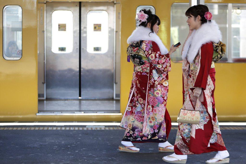 Begegnung in der U-Bahn von Tokio, Japan EPA/KIYOSHI OTA
