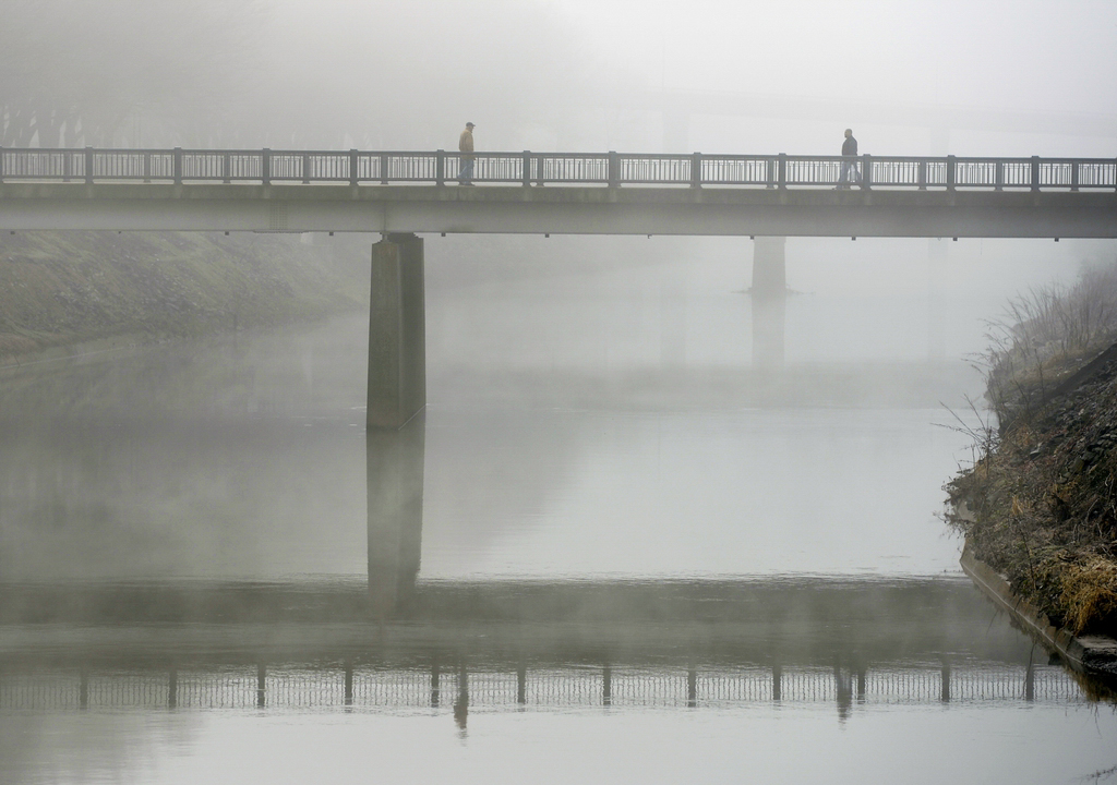 Auf der Brücke über den Codorus Creek in York, USA (Keystone/AP Photo/Chris Dunn)