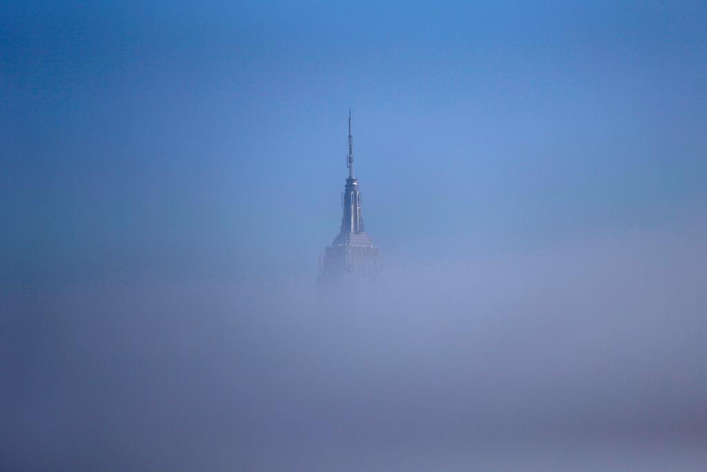 Nebel über New York, USA (Keystone/AP Photo/Julio Cortez)