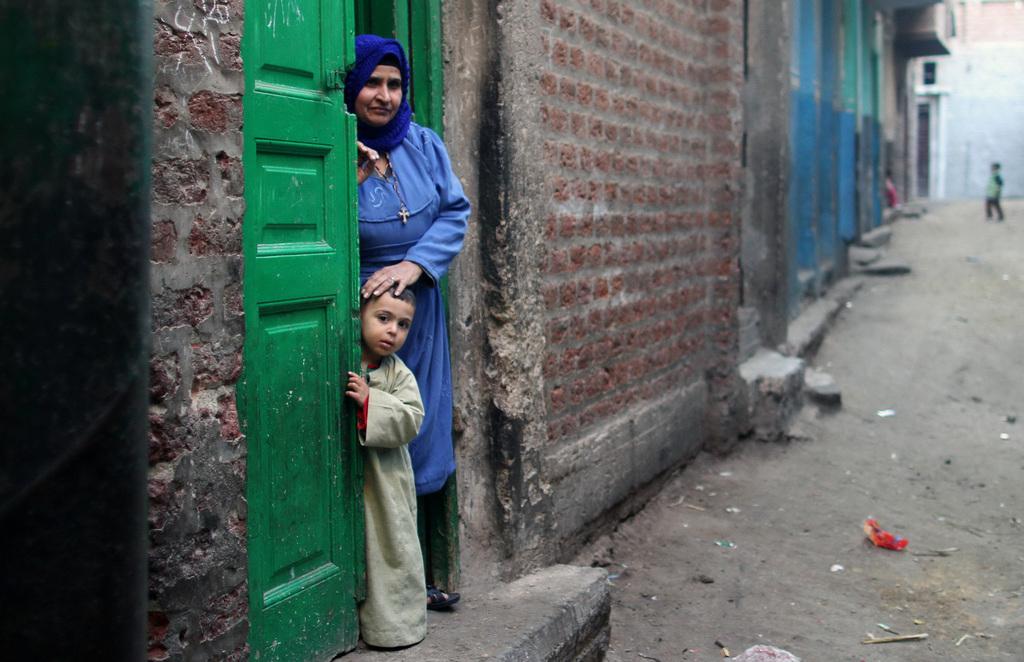 Christein in Minya, Ägypten (Keystone/AP Photo/Roger Anis)