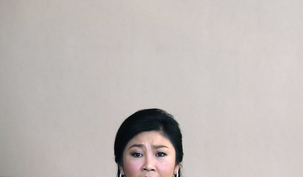 Mutiges Portrait einer Ministerpräsidentin in Bedrängnis - Yingluck Shinawatra in Bangkok, Thailand (Keystone/EPA/Barbara Walton)