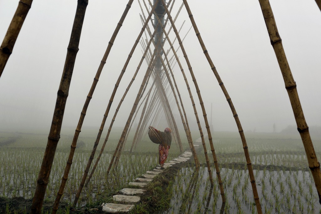 Morgenstimmung in Ashulia, Bangladesh (Keystone/AP Photo/A.M. Ahad)