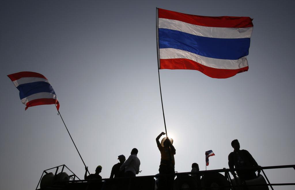 Demonstranten in Bangkok, Thailand (AP Photo/Wally Santana)