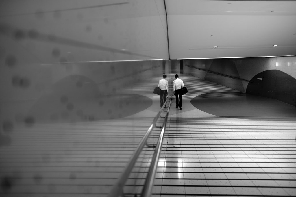 Im Finanzzentrum von Singapur (Keystone/EPA/How Hwee Young)