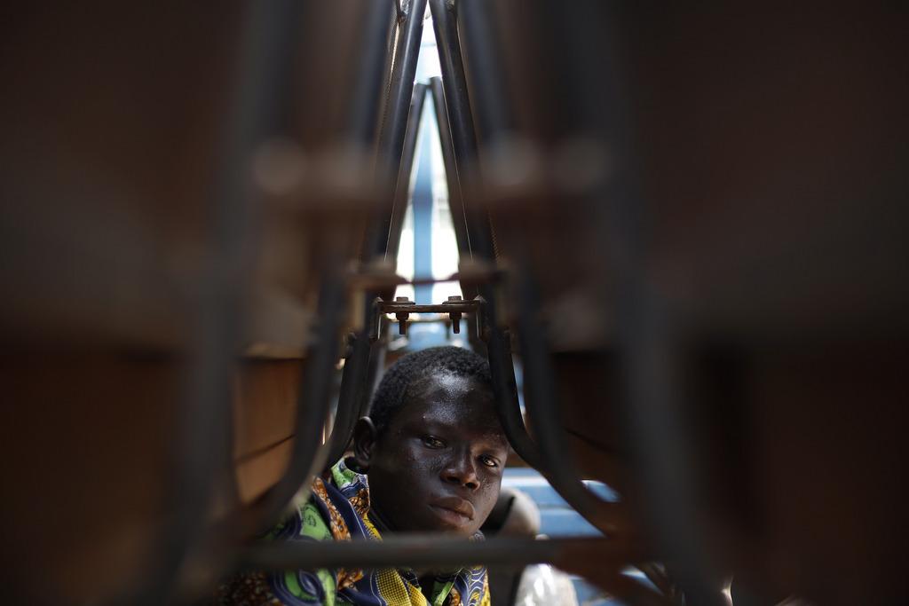 Portrait aus Bangui, Zentralafrika (Keystone/AP Photo/Jerome Delay)