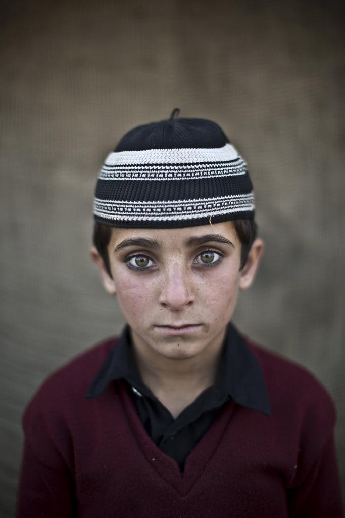Serie - afghanische Flüchtlingskinder: Hayat Khan, 8; Islamabad Pakistan (AP Photo/Muhammed Muheisen)