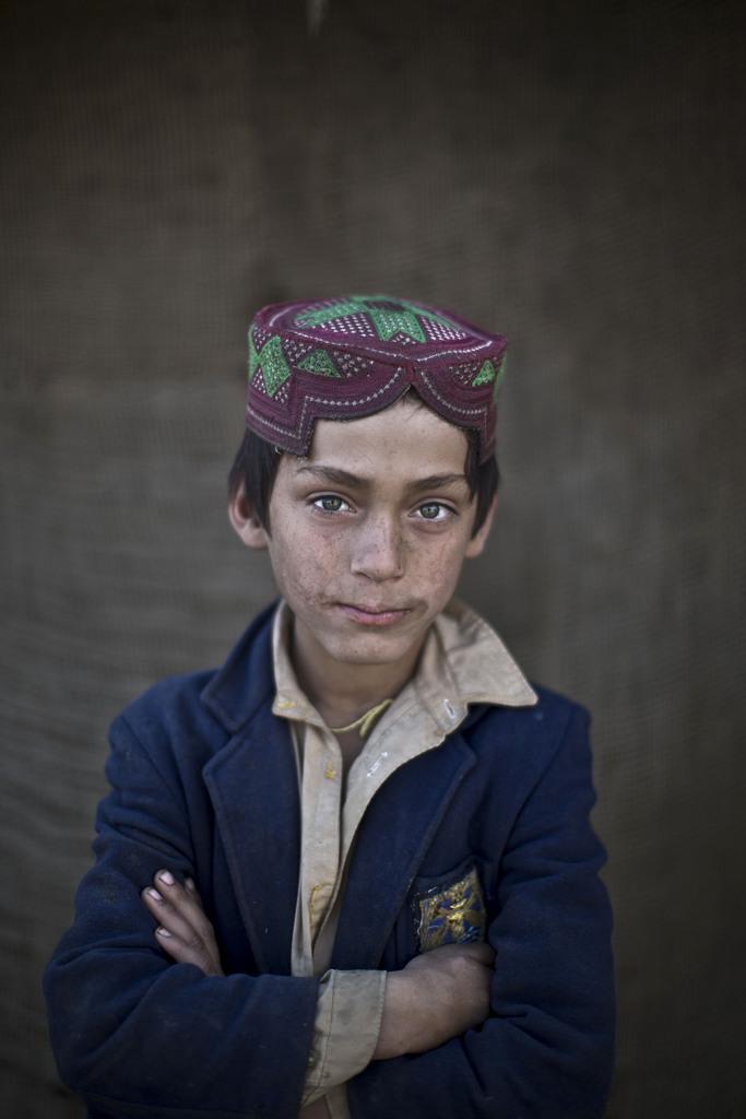 Serie - afghanische Flüchtlingskinder:  Ibraheem Rahees, 8; Islamabad Pakistan (AP Photo/Muhammed Muheisen)