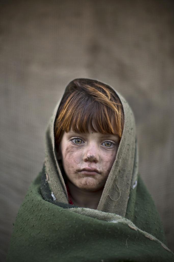 Serie - afghanische Flüchtlingskinder: laiba Hazrat, 6; Islamabad Pakistan (AP Photo/Muhammed Muheisen)