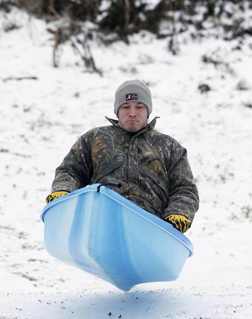 Bootsrennen der andere Art in Tuscaloosa, USA (Keystone/AP Photo/Robert Sutton)