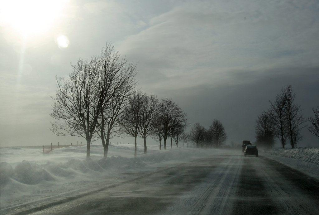 Winter in Napierki, Polen (Keystone/EPA/Tomasz Waszczuk)