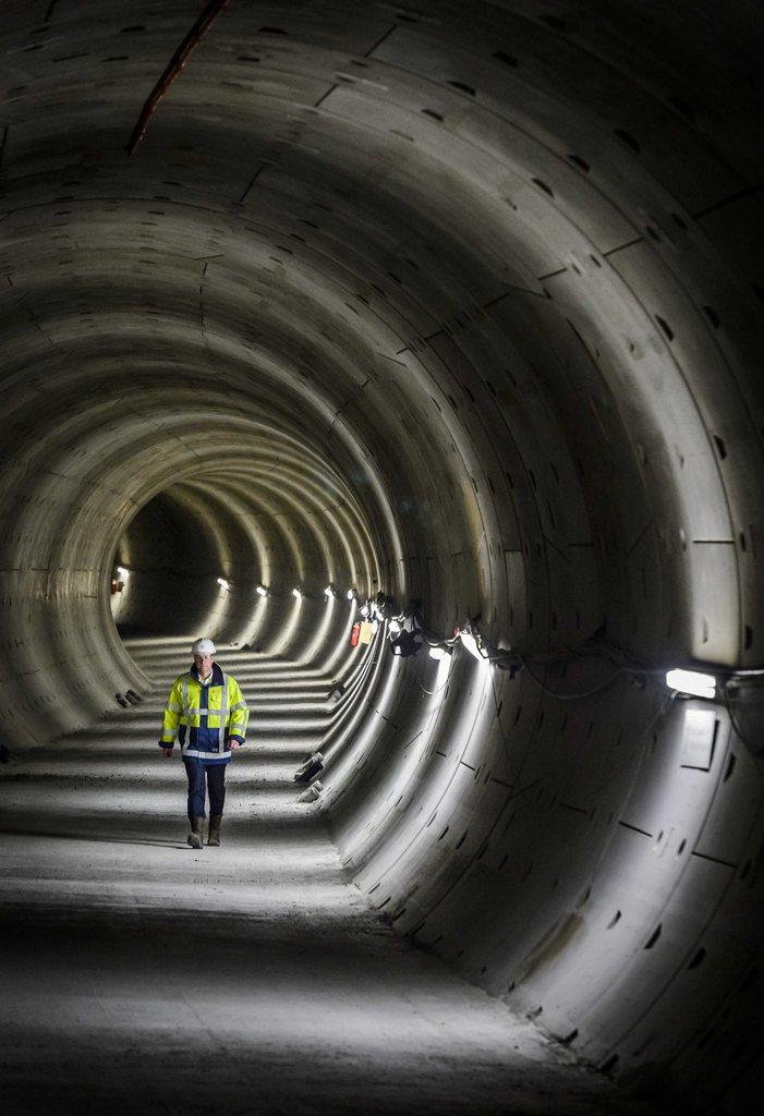 In einem Tunnel in Amsterdam, Niederlande (Keystone/EPA/Lex van Lieshout)
