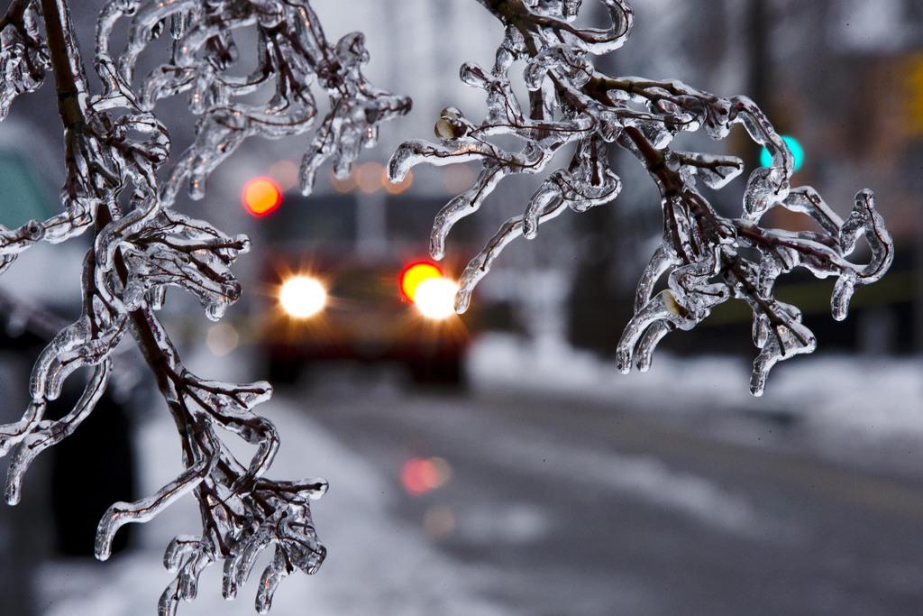 Eis und Schnee in Philadelphia, USA (Keystone/AP Photo/Matt Rourke)