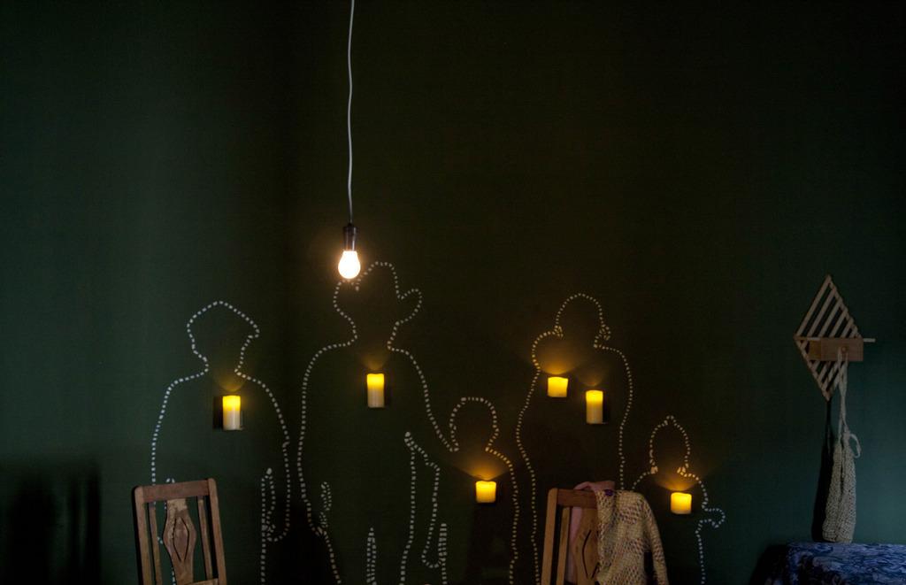 Silhouetten von Opferen des Bürgerkriegs in Guatemala in einem Museum, Guatemala-Stadt (AP Photo/Moises Castillo)