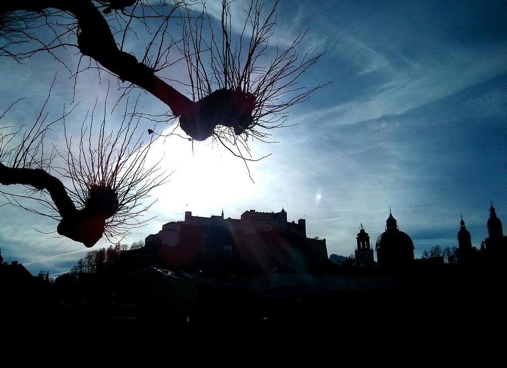 Silhouette der Salzburger Altstadt, Österreich APA-FOTO: BARBARA GINDL