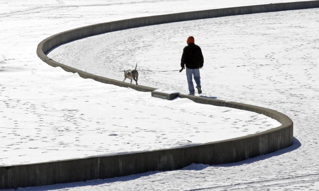 Spaziergang in Cincinnati, USA (Keystone/AP Photo/Al Behrman)