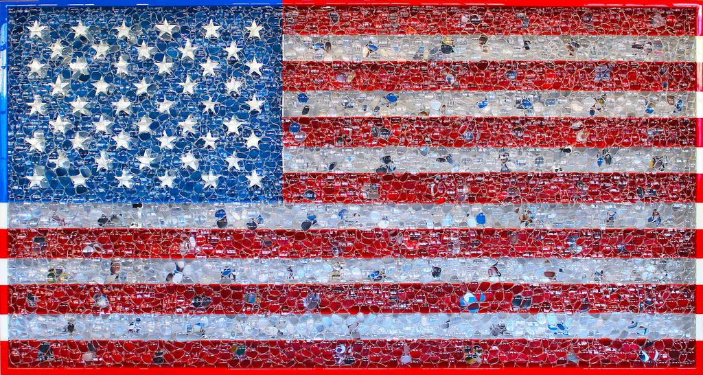 Die amerikanische Flagge  als Kunst in USA (Keystone/AP Photo/National Portrait Gallery)