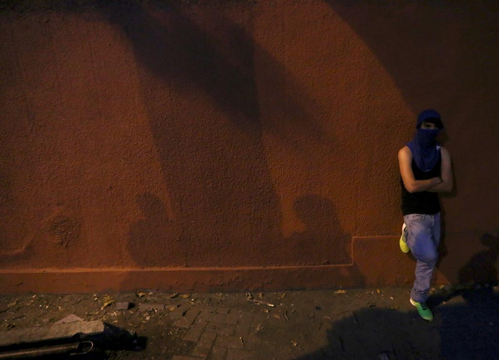 Demonstrant in Caracas, Venezuela (AP Photo/Fernando Llano)